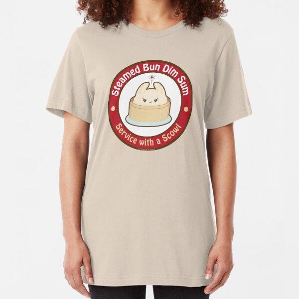 Cute Steamed Bun Dim Sum Slim Fit T-Shirt