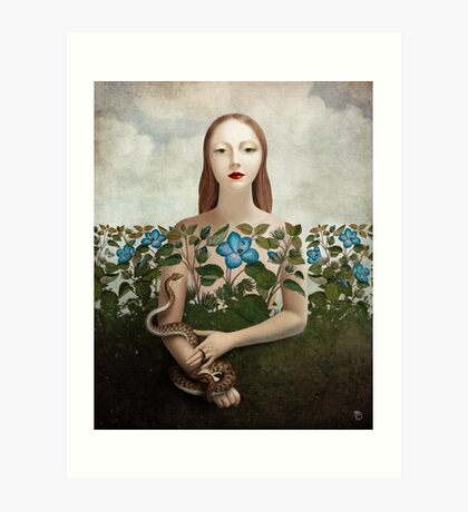 Eva and the Garden  Art Print
