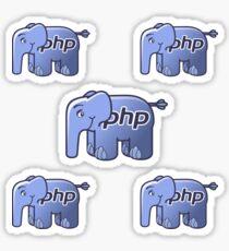 PHP Elephant Mascot Coding STEM Sticker