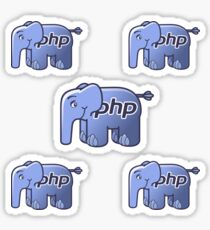 PHP Elephant Coding Sticker
