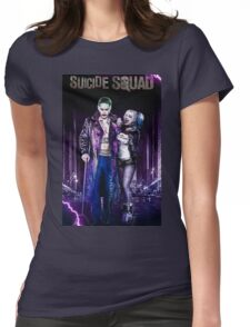 Harley Quinn & The Joker Womens Fitted T-Shirt