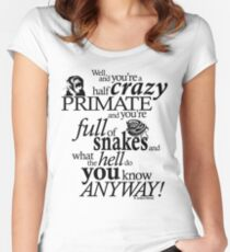 Crazy Primate (1) Women's Fitted Scoop T-Shirt