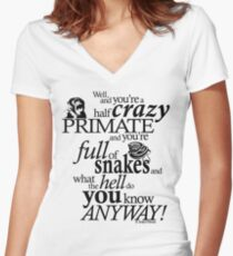 Crazy Primate (1) Women's Fitted V-Neck T-Shirt