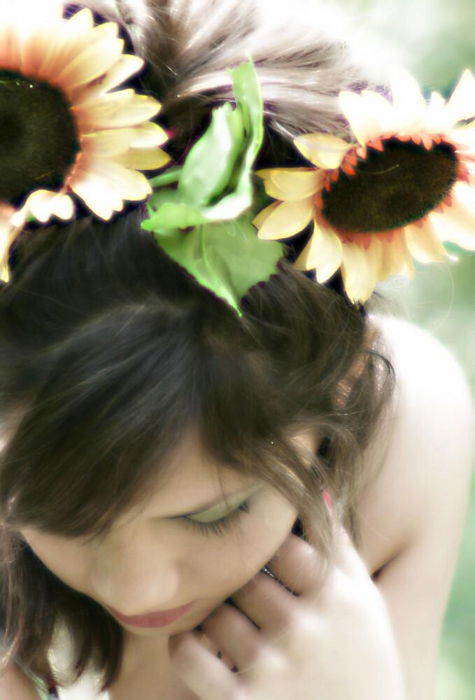 Sunflower Girl by Brandy  Bartley
