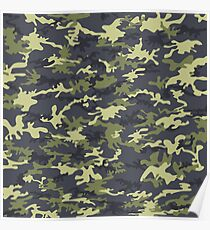 Green Military Pattern 3 Poster