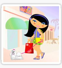 TropoGirl - A day in the mall Sticker