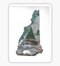 Live free and climb mountains Sticker