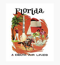 Florida delta air lines Photographic Print