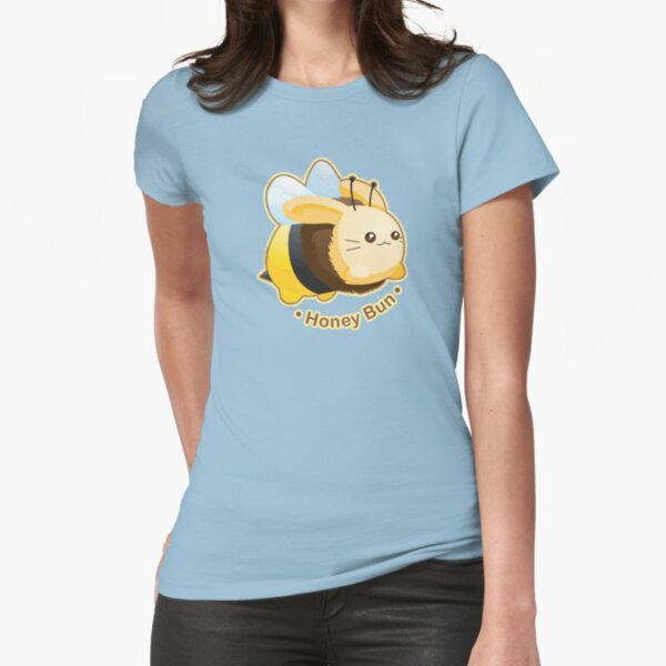 Cute Honey Bun Bunny Fitted T-Shirt