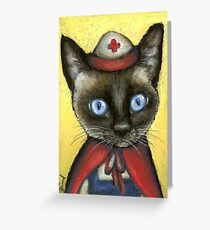 Nurse cat Greeting Card