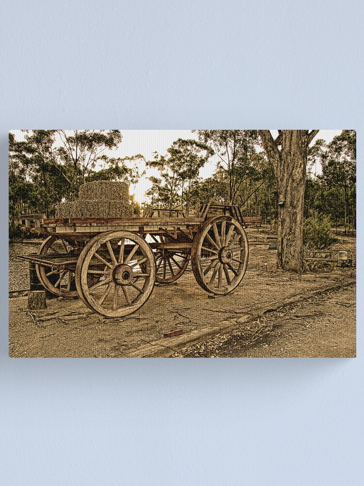 Alternate view of Wagon Wheels Canvas Print