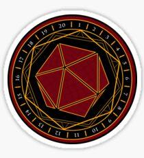 Twenty Sides of Fate Sticker