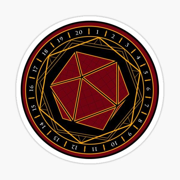 Twenty Sides of Fate (Red) Sticker