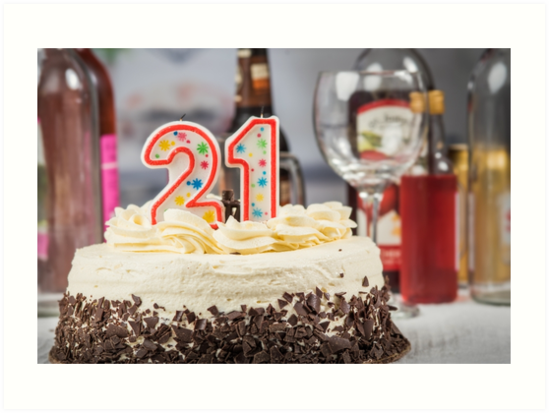 21st Birthday Cake Art Prints By Nscphotography