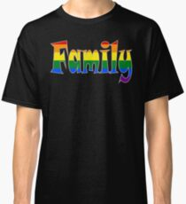 Rainbow Family Gay / lesbian Interest - from Bent Sentiments Classic T-Shirt