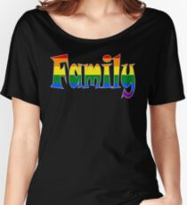 Rainbow Family Gay / lesbian Interest - from Bent Sentiments Women's Relaxed Fit T-Shirt