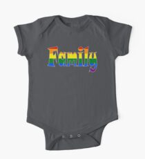 Rainbow Family Gay / lesbian Interest - from Bent Sentiments One Piece - Short Sleeve