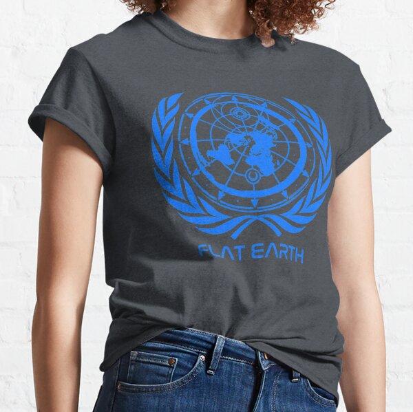 classic - Flat Earth Designs - Flat Earth MAP - UPDATED 2017 LOGO Classic T-Shirt