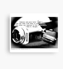 Cameras v.s. Guns 2 Canvas Print