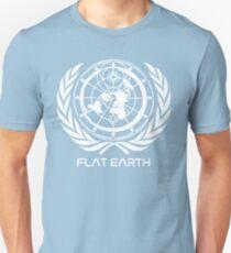 classic - Flat Earth Designs - Flat Earth MAP - UPDATED 2017 LOGO Unisex T-Shirt