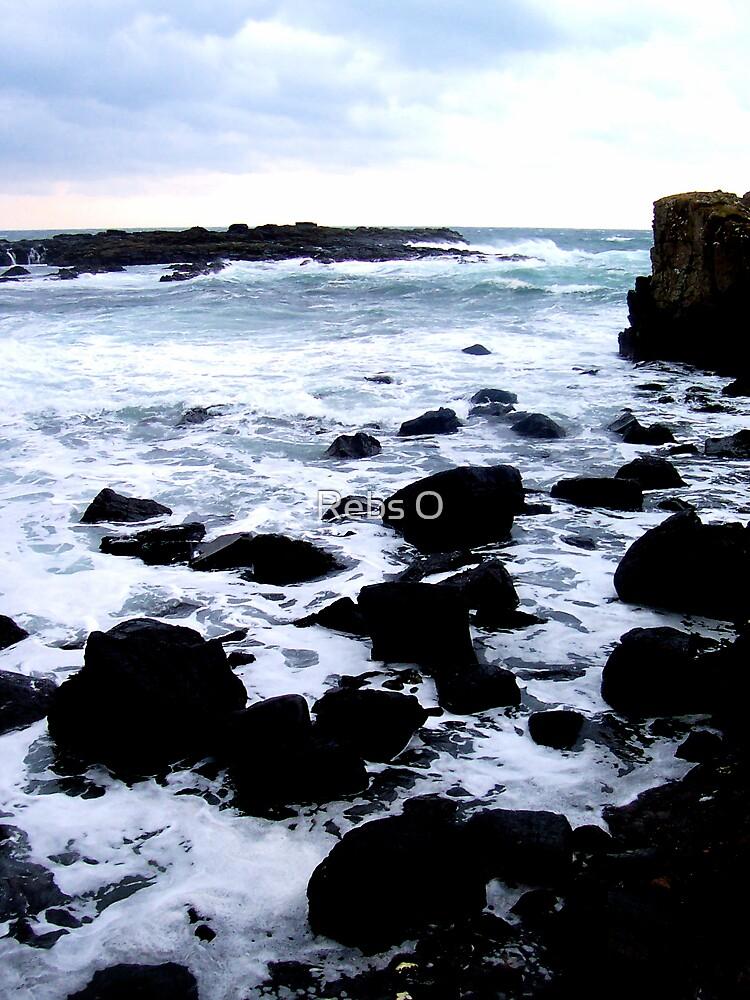 Cold Irish sea by Rebs O