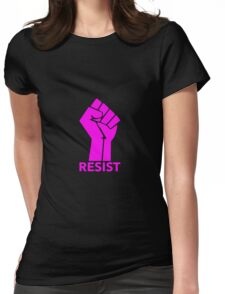 Raised Fist - RESIST Womens Fitted T-Shirt