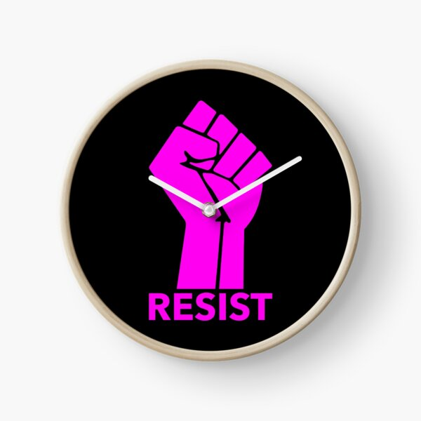 Raised Fist - RESIST Clock