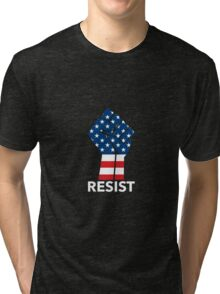 Raised Fist - RESIST Tri-blend T-Shirt