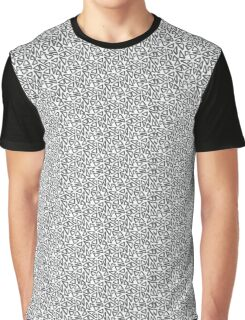 Trippy black and white triangle pattern Graphic T-Shirt