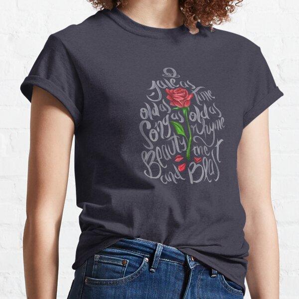 Disney Beauty and Beast Enchanted Rose Fairy Tale Junior Girl Womens Tee T-Shirt