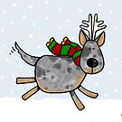 cattle dog christmas by Corrie Kuipers