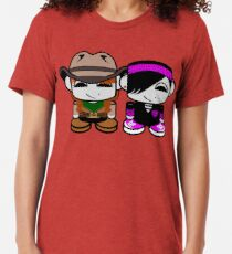 Jill & Emme Bass O'BABYBOT Toy Robot 1.0 Tri-blend T-Shirt