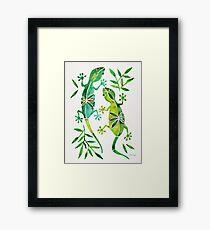 Geckos – Green Palette Framed Print