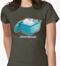Cute Cloud Storage Women's Fitted T-Shirt