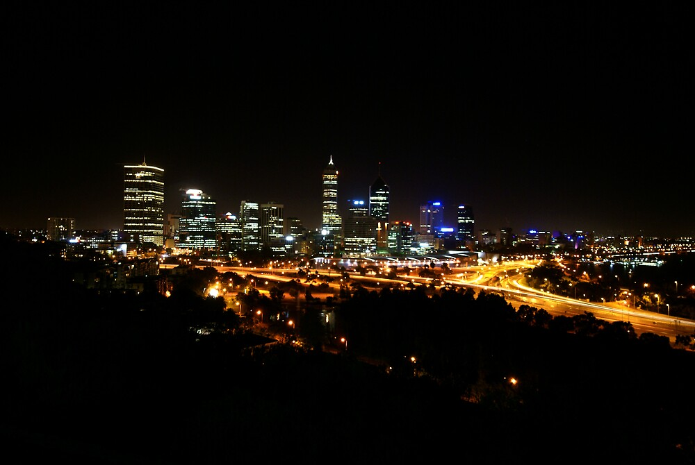 Perth at night by alistair mcbride