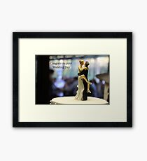 Wedding with some humour Framed Print