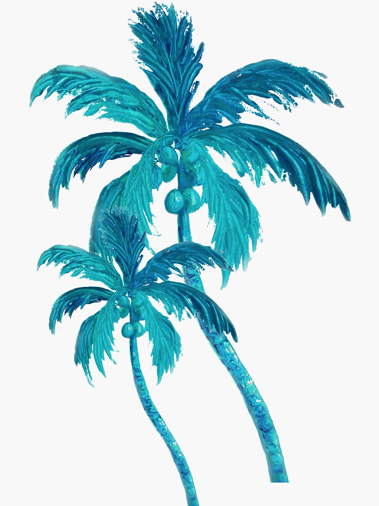 Two Coconut Palm Trees by MatsonArtDesign