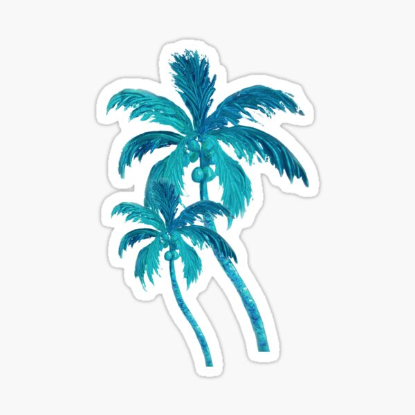 Two Coconut Palm Trees Sticker