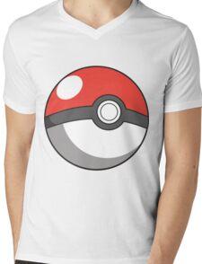 Cartoon Pokeball Mens V-Neck T-Shirt