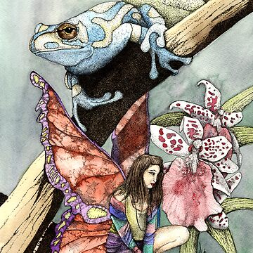 Flowers,Frog and a Faery by Preston
