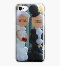 Wedding Humour Balloon Bride and Groom iPhone Case/Skin