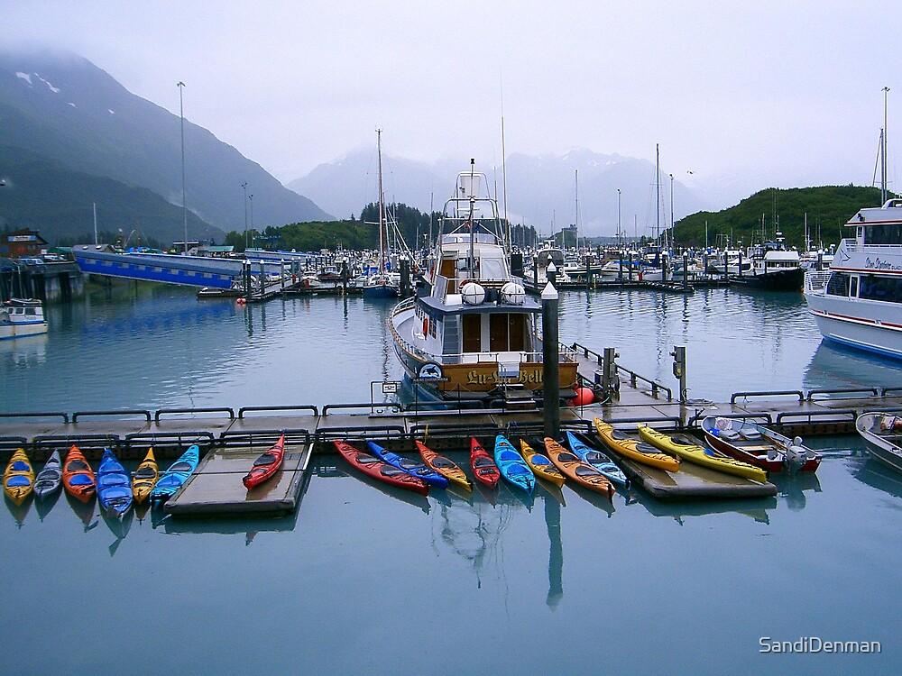 Kayaks in Valdez AK by SandiDenman