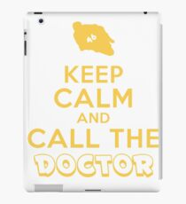 Keep Calm And Call The Doctor T Shirt iPad Case/Skin