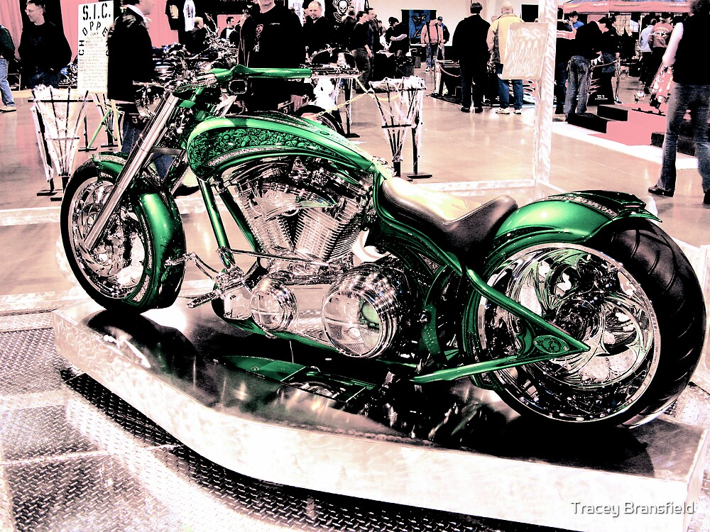 Chrome Motorcycle by Tracey Bransfield