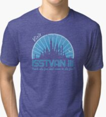 Visit (blue) Tri-blend T-Shirt