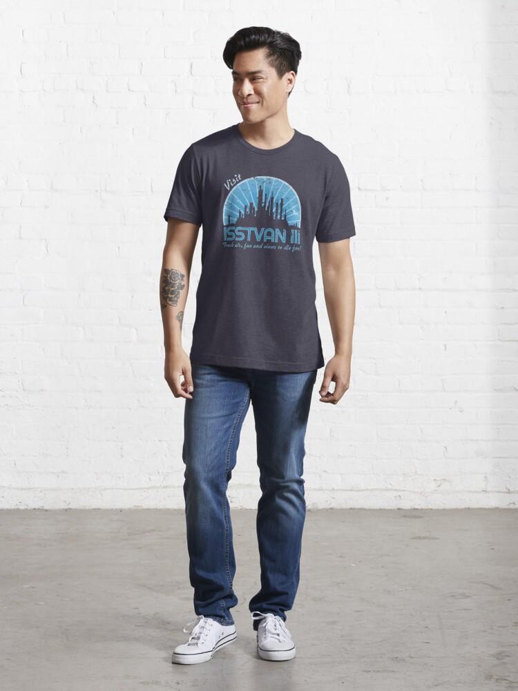 Alternate view of Visit (blue) Essential T-Shirt