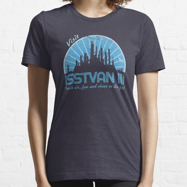 Visit (blue) Essential T-Shirt