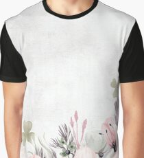 Floral Summer Greatings - Watercolor Flowers Graphic T-Shirt