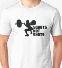 Squats not Shots Black T-Shirt