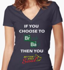 Breaking Bad/Better Call Saul Women's Fitted V-Neck T-Shirt
